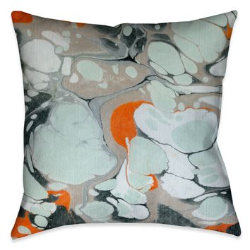 Mint Marble I Decorative Pillow