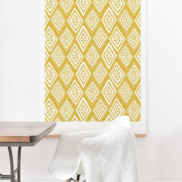 Heather Dutton Diamond In The Rough Gold Art Print And Hanger