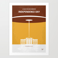 No249 My INDEPENDENCE DAY minimal movie poster Art Print by Chungkong