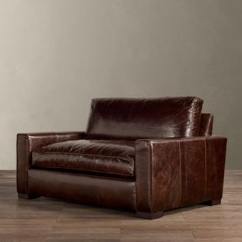 maxwell leather chair and a half chairs restoration hardware