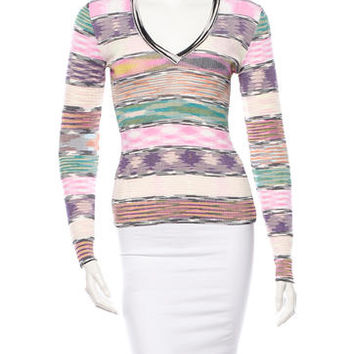 M Missoni Knit V-Neck Top