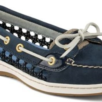 Sperry Top-Sider Angelfish Cane Woven Boat Shoe NavyCane, Size 10M  Women's Shoes