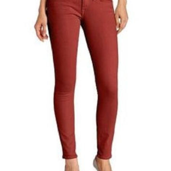 Lucky Brand Womens Canyon Red Charlie Slim Fit Skinny Ankle Denim Jeans Size 6