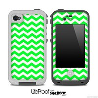 Lime Green Chevron Pattern for the iPhone 5 or 4/4s LifeProof Case