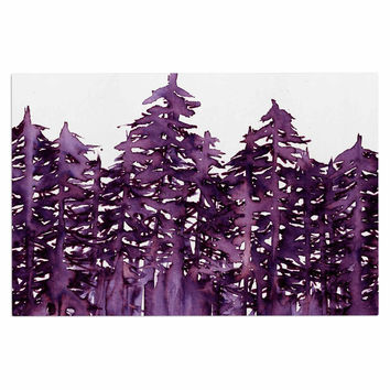 "Ebi Emporium ""Forest Through The Trees 2"" Purple White Decorative Door Mat"