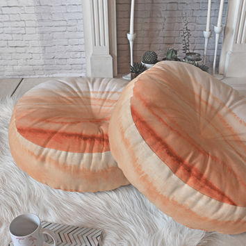 Monika Strigel WITHIN THE TIDES SUNRISE Floor Pillow Round