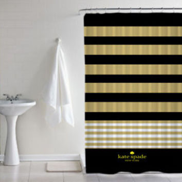 "Best New Kate Spade Luxury Stripes Print Custom Shower Curtain Size 60"" x 72"""
