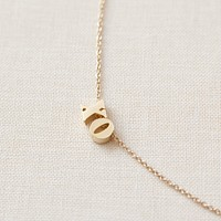 XO Necklace - solid gold