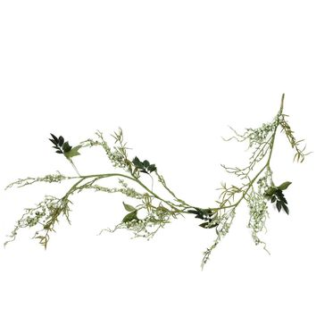 5' Green Mixed Berry and Spring Floral Decorative Artificial Garland
