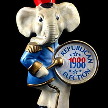 1988 Republican Election Kentucky Decanter  Jim Beam Whiskey Empty FREE SHIPPING!!!