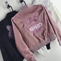 Kenzo Embroidered Logo Jersey Bomber Jacket