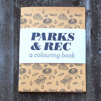 Parks and Rec - A Mini Colouring Book