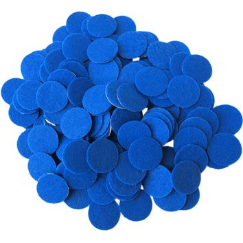 Blue Felt Circle Stickers (1 to 4 inch)
