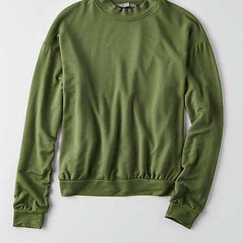 Don't Ask Why Mock Neck Sweatshirt, Olive