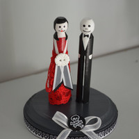 Until Death Us Do Part Gothic Themed Wedding Cake Topper