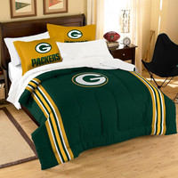 Green Bay Packers NFL Embroidered Comforter Twin-Full (Contrast Series) (64 x 86)