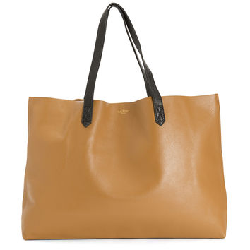 The Perfect Leather Tote 'Omega' Camello/Black