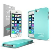 Generic Slim & Flexible TPU Case with Shimmer, Mint