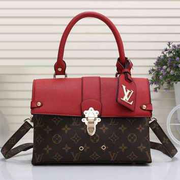 Louis Vuitton Women Shopping Bag Leather Satchel Shoulder Bag Tote Handbag Crossbody