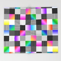 Mondrian Couture Throw Blanket by Dood_L