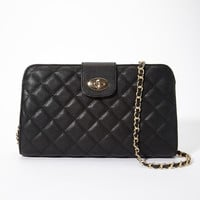 Quilted Faux Leather Convertible Bag