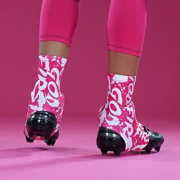 God First Pink  Spats / Cleat Covers