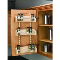Rev-A-Shelf 4ASR-18 4ASR Series Adjustable Door Mount Spice Rack with 3 Shelves - Walmart.com