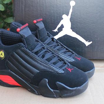 Air Jordan 14 Retro AJ14 Black/Red Sport Shoe