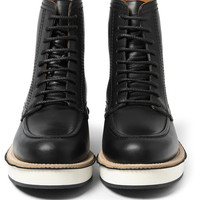 Givenchy - Contrast-Sole Leather Boots | MR PORTER