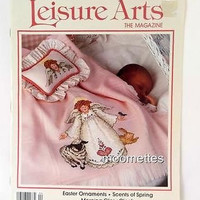 Leisure Arts Easter Ornaments Baskets Knit Crochet 27 Crafts Magazine April 1993