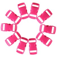 10pcs/lot multicolor 10mm Shackle Contoured Curved Side Tool Release Plastic Buckle for Paracord Bracelet  Outdoor Tool