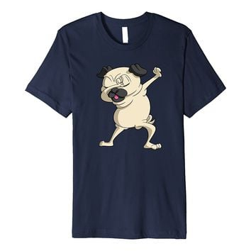 Dabbing Dancing Pug Shirt - Pug Mom or Dad Dog Lover T-Shirt