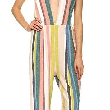Free People My Kind of Woman Linen Blend Jumpsuit