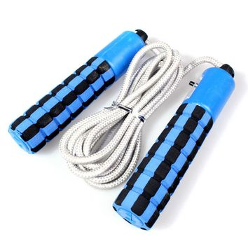 Automatic Jump Counter Adjustable Skipping Rope Jumping Exercise Fitness Training Gym Sports Foam Sponge Handle 4Colors