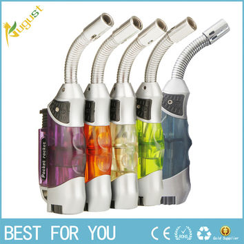 Portable elbow ignition jet butane torch gas lighters,Mini windproof men's cigarette lighters,recycling refillable