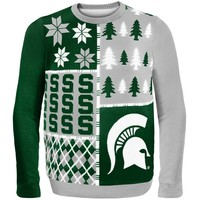 Michigan State Spartans Busy Block Ugly Sweater