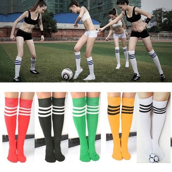 New Sport Knee Socks Thigh High Cotton Sock Knee Leg Sock Soccer Football Sock 6 Color 18938 = 1712968068