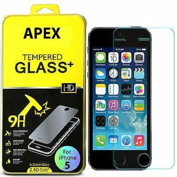 Premium Real Tempered Glass Screen Protector Film Guard for Apple iPhone 5/5S/5C 635909324690