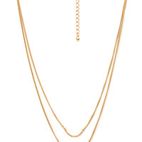 FOREVER 21 Curved Pendants Necklace Gold One