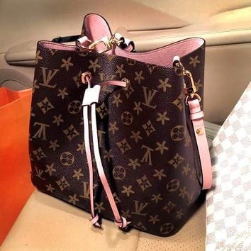 LV Women Shopping bag Leather Satchel Handbag Crossbody Shoulder Bag Two Piece Set