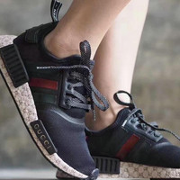 "shosouvenir :""Adidas""GUCCI  NMD Fashion Trending Women Leisure Running Sports Shoes"