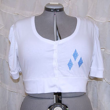 My Little Pony Diamonds Cutie Mark White Shrug Adult XL MTCoffinz --- ready to ship
