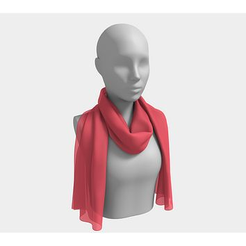 Solid Long Scarf - Coral