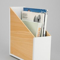 Wood & Metal File Organizer