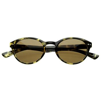 Premium 1920's Dapper Vintage P3 Oval Fashion Sunglasses 8362