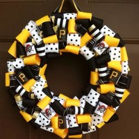 Pittsburgh Pirates Wreath Ribbon Sports Baseball