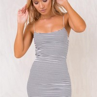 Stripe Tea Leaf Mini Dress