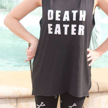 Death Eater Tank- Free Temp Tattoo!
