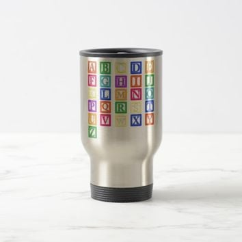 Block Letters Travel Mug