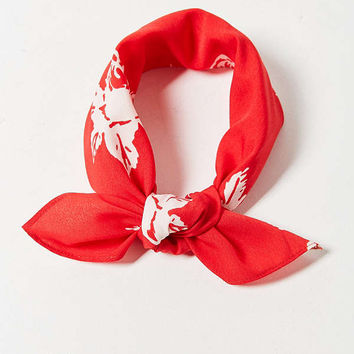 Western Silky Mini Square Scarf | Urban Outfitters